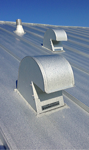 Galvalume Roof Vent Installation